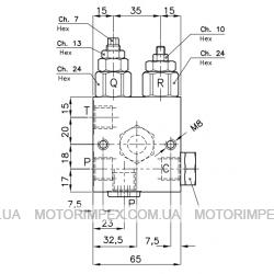 Гидравлические блоки VE-40-VST-VMP-38 для гидроцилиндров одностороннего действия (для лифтов)