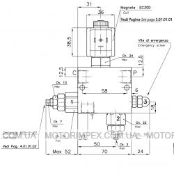 Гидравлические блоки VD-DC-L-VST-VMP для гидроцилиндров одностороннего действия (для лифтов)