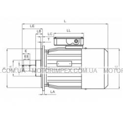 Трехфазные асинхронные электродвигатели CAT-240 и CAT- 290