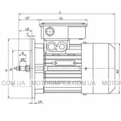 Трехфазные асинхронные электродвигатели KAT-35