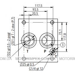 Монтажные плиты типа G для предохранительных клапанов DB30 и DBW30