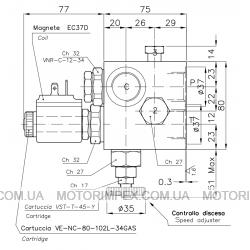 Гидравлические блоки VC-DC-34-14-ER для гидроцилиндров одностороннего действия (для лифтов)