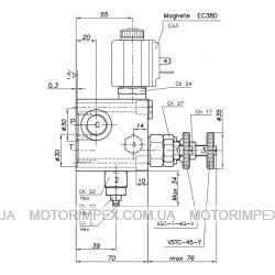 Гидравлические блоки VC-DC-12R-LVE-SM-14 для гидроцилиндров одностороннего действия (для лифтов)