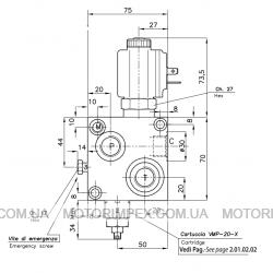 Гидравлические блоки VC-DC-12R-E-SM для гидроцилиндров одностороннего действия (для лифтов)